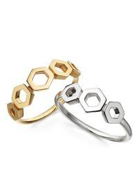 Astley Clarke | Metallic Plain Honeycomb Ring | Lyst