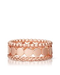 Astley Clarke - Pink Rose Stilla Ring Stack - Lyst
