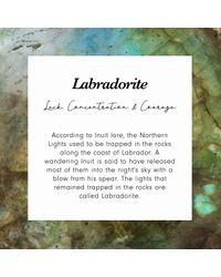 Astley Clarke Metallic Labradorite Detail Biography Necklace