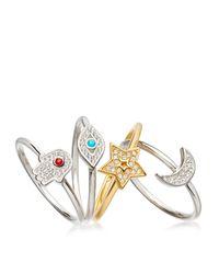 Astley Clarke - Multicolor Mini Star Biography Ring - Lyst