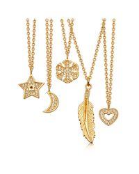 Astley Clarke Metallic Mini Star Biography Pendant Necklace