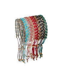 Astley Clarke - Multicolor Rose Quartzite Beaded Skinny Kula Bracelet - Lyst