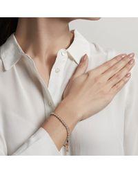 Astley Clarke Gray Amazonite Wishbone Biography Bracelet