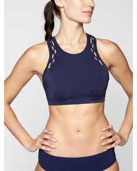 Athleta - Blue High Neck Loop Bikini Top - Lyst