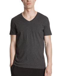 ATM - Gray Classic Jersey V-neck Tee for Men - Lyst