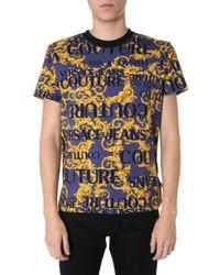 Versace T-shirt In Blue for men