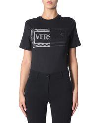 Versace Black Cotton T-shirt