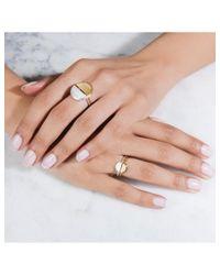 Rachel Jackson - Metallic Mini Half Moon Gold Adjustable Ring - Lyst