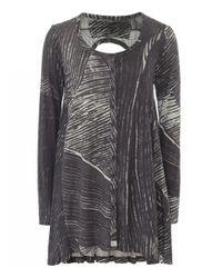 Rundholz - Gray Jersey Scribble Print Jacket - Lyst