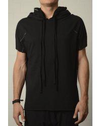Thom Krom Hooded T-shirt Black Colour: Black, for men