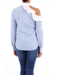 Pinko Shirts Classic Women White And Light Blue