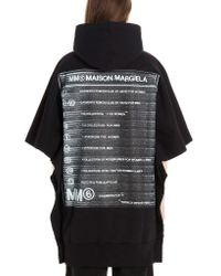 Maison Margiela Women's S52ct0491s25409900 Black Cotton Sweatshirt