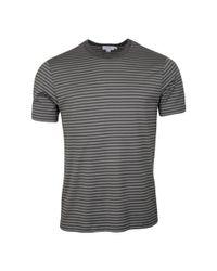 Sunspel Gray Classic Crew T-shirt Light Grey / Mid Grey for men