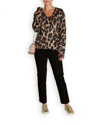 360cashmere Black Geraldine Leopard Cashmere Jumper