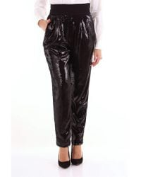 P.A.R.O.S.H. Classic Black Sequined Trousers