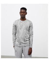 Atterley Gray Vertical Dye Long Sleeve | Heather Grey for men