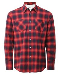 Universal Works Cotton Inverness Check Shirt Colour: Multi Coloured for men