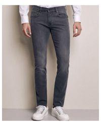 Baldessarini Pink Stretch Slim Fit John Jeans Colour: Grey for men