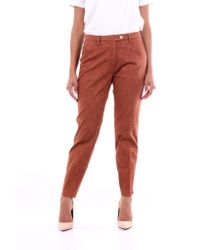 Michael Coal Orange Trousers Classics Women Burnt