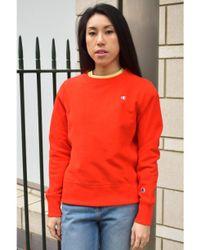 Champion Crewneck Red Sweatshirt