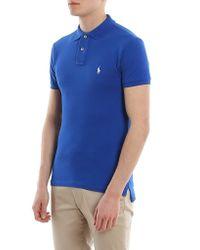 Polo Ralph Lauren Royal Blue Slim Fit Cotton Pique Polo for men