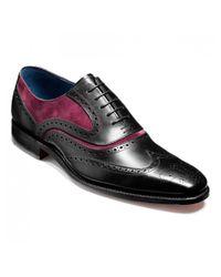 Barker Black Mcclean Brogue Shoes for men