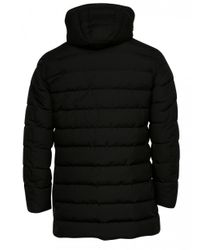 Herno Laminar Long Quilted Coat (black) for men