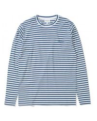 Norse Projects James Logo Stripe - Annodized Blue for men