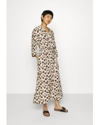 Part Two Multicolor Shirt Dress -creme Brulee