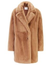 BOSS Brown Oversized-fit Double-breasted Coat