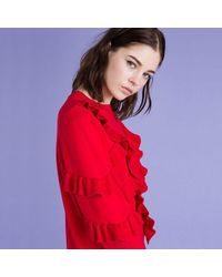 Suncoo Christine Red Knitted Dress