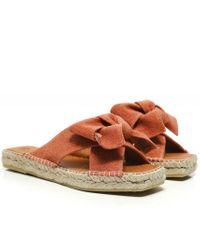 Macarena Miko7 Open Toe Leather Sandals Colour: Orange