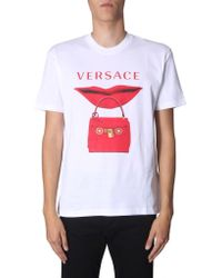 Versace White Round Neck T-shirt for men