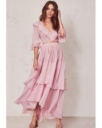 LoveShackFancy Pink Andrea Skirt