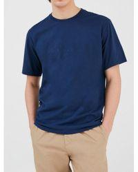 Woolrich Blue W0tee1151 313 T-shirt for men