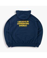 Tsptr Blue Conserve Energy Hooded Sweat - Navy for men