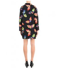 Boutique Moschino Black Butterfly Coat