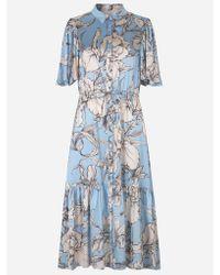 Munthe Tanta Floral Dress Ice Blue