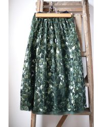 Bellerose Hopla Green Sequin Mesh Skirt