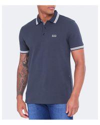 BOSS Green White Boss Paddy Polo Shirt for men