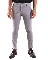 Dondup Gray Trousers for men