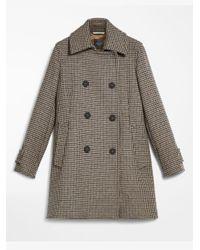 Weekend by Maxmara Brown Wool Blend Coat Camel Manche 50860393