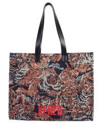 "KENZO Multicolor Large ""flying Tiger"" Jacquard Tote Bag"