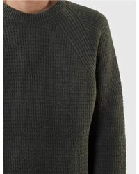 Edwin Green Purl Ecojean Knit Jumper for men