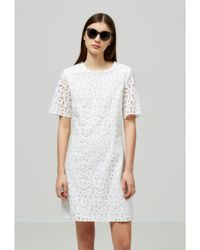 SELECTED - White Giva Lace Dress - Lyst