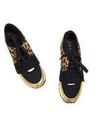 Lola Cruz Auva Leopard And Black Trainers