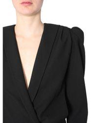 Saint Laurent Black Short Overall Sable Coat