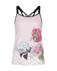 Ted Baker - Pink Women's Fit To A T Arlen Palace Gardens Fitted Vest Top - Lyst