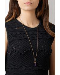Theodora Warre - Metallic Amethyst Pendant Necklace - Lyst