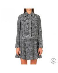 MICHAEL Michael Kors - Gray Michael Kors Frayed Tweed Jacket In Grey - Lyst